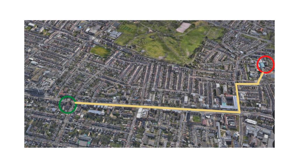 Distance from our Romford Road Site to the New Site (less than 1 mile)